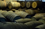 Casks lie at the Glenfiddich distillery