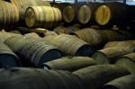Casks lie at the Glenfiddich distillery
